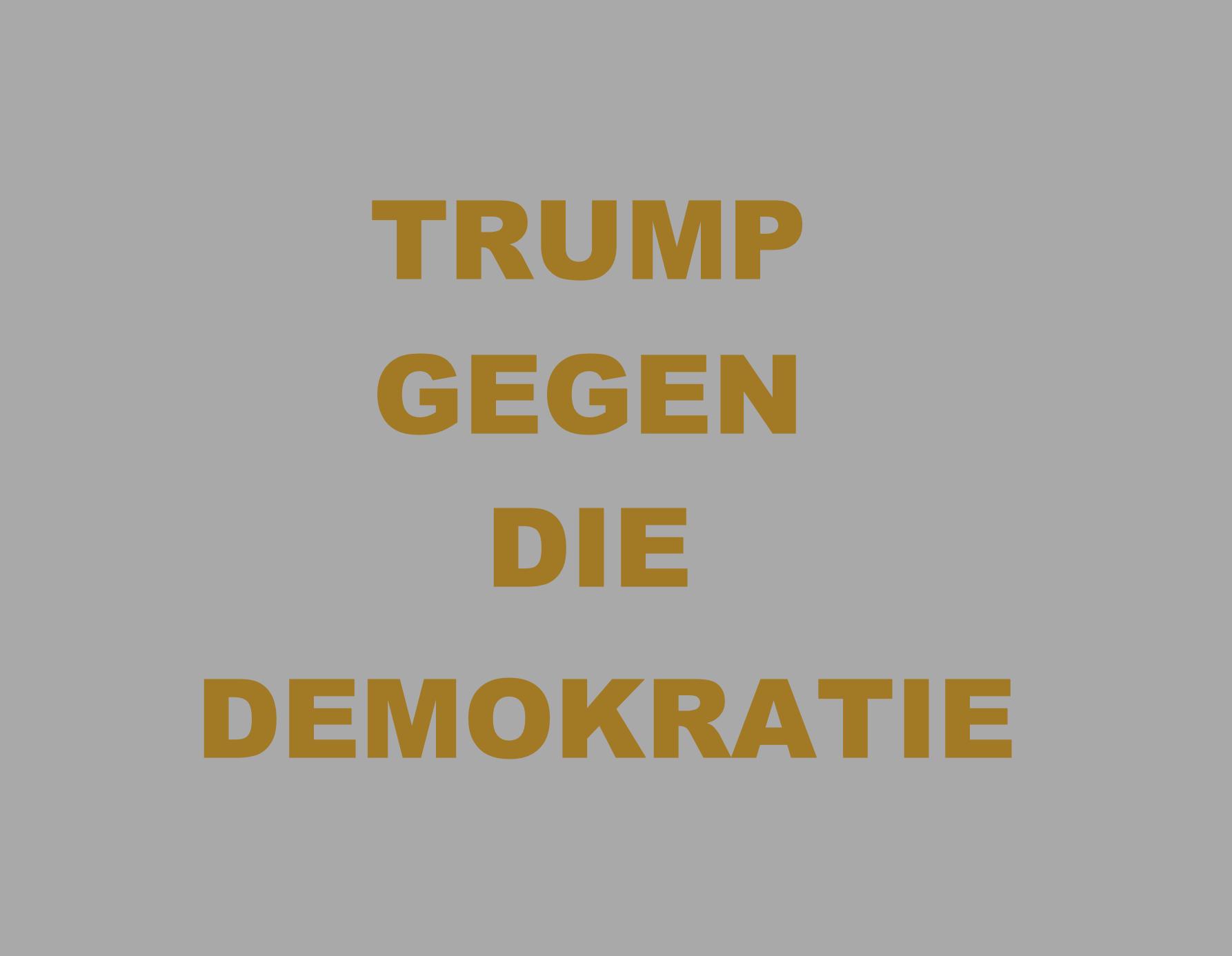 WIE TRUMP DIE DEMOKRATIE ATTACKIERT(E)